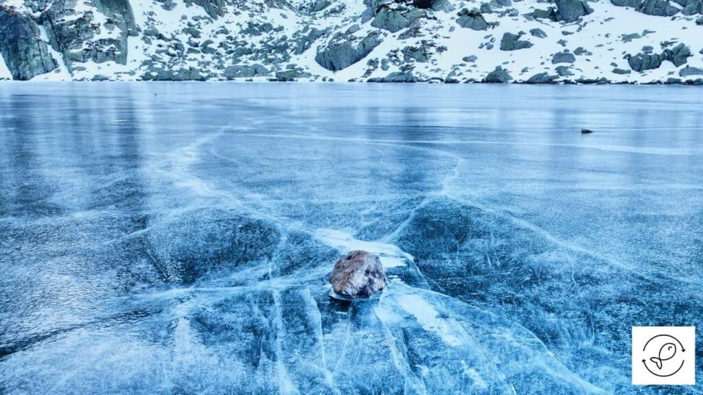 Image of a frozen lake